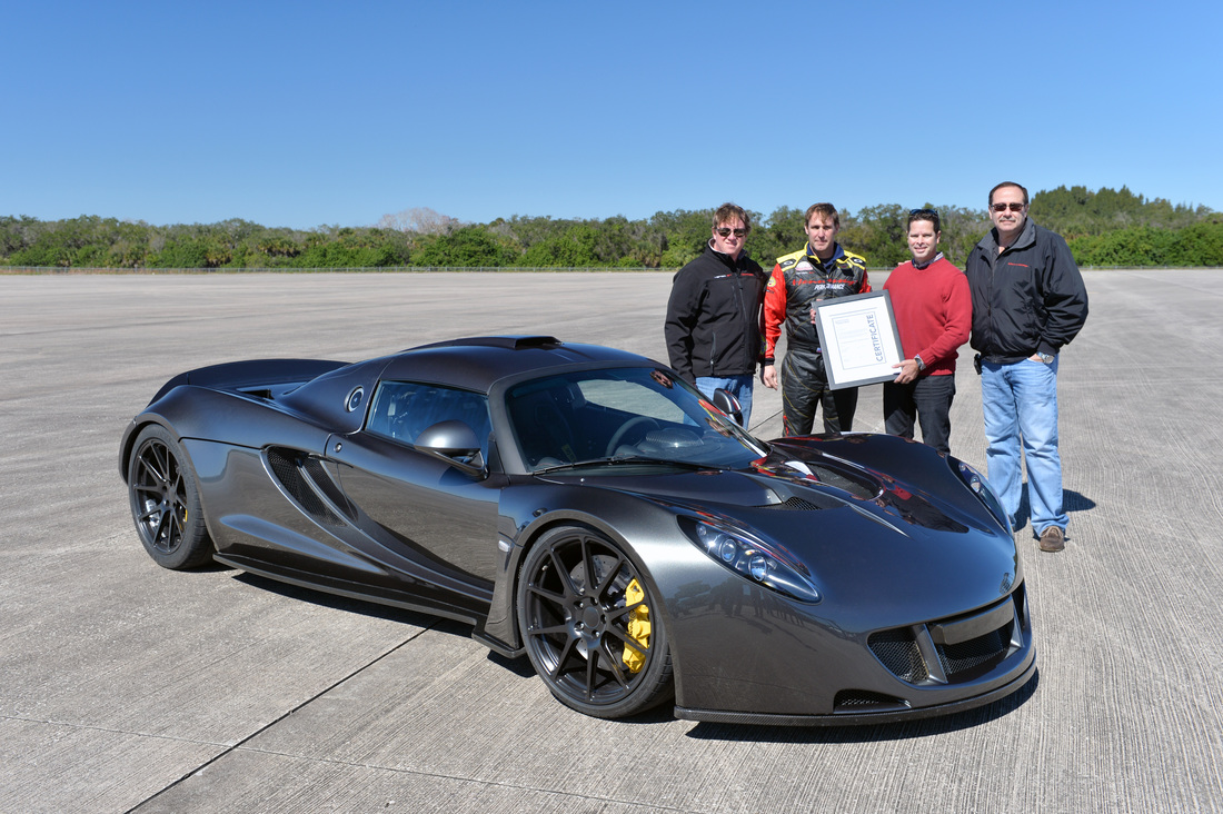 Venom GT and World Record Certificate